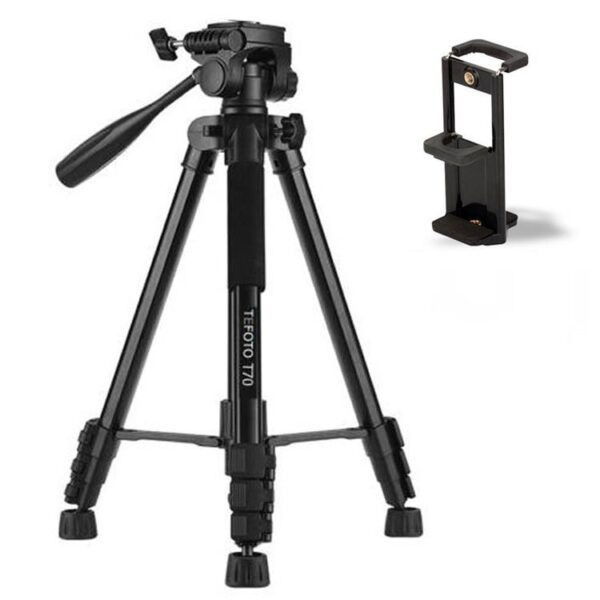 سه پایه Tefoto T70 Tripod+ Tablet & Mobile holder