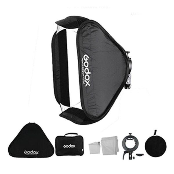 فلاش پرتابل  Godox Witstro AD400 Pro به همراه فرستنده سونی XProS+ سافت باکس 80×80 و پایه