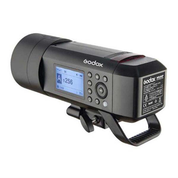 فلاش پرتابل گودکس Godox Witstro AD400 Pro به همراه فرستنده کانن X2+ سافت باکس 80×80 و پایه