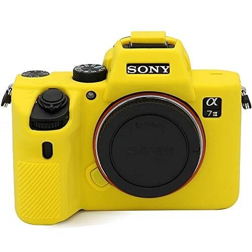کاور سیلیکونی دوربین sony a7 III رنگ زرد
